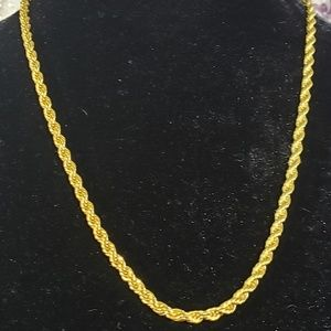 "26"" gold plated rope necklace"